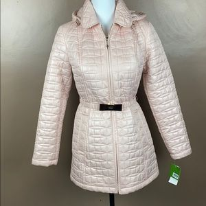 Kate spade cameo pink bow quilt  puffer jacket